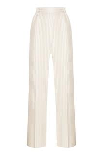 Белые шелковые брюки Stella Mc Cartney