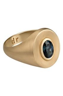 Кольцо из желтого золота с сапфиром Dusty Rose