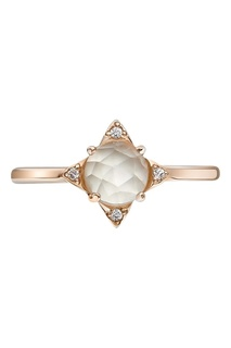 Позолоченное кольцо с пренитом «Роза Ветров» Moonka Studio