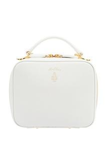 Белая кожаная сумка Baby Laura Mark Cross