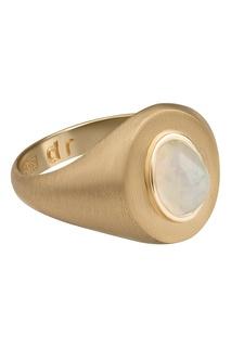 Кольцо из желтого золота с опалом Dusty Rose