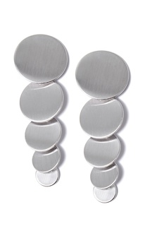 Серебристые серьги из кругов Lisa Smith