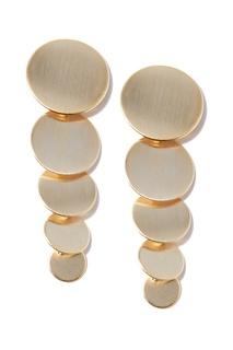 Золотистые серьги с кругами Lisa Smith