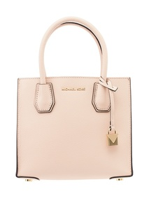 Розовая сумка Mercer с подвеской Michael Kors