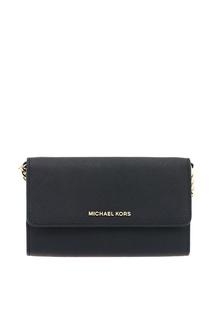 Черная кожаная сумка Crossbodies Michael Kors