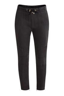 Черные шелковые брюки Balmain