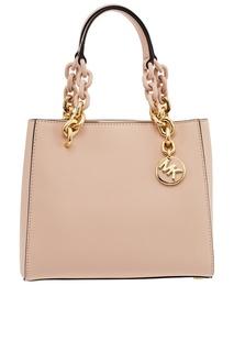 Розовая сумка с массивными ручками Cynthia Michael Kors