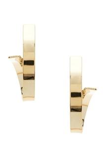Золотистые серьги-петельки Ruby Novich