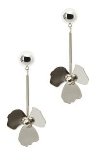 Серебристые серьги-цветы Ruby Novich