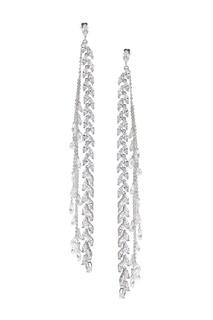 Серьги с фианитами Light Caviar Jewellery
