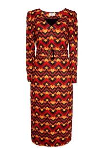 Платье с принтом Laroom