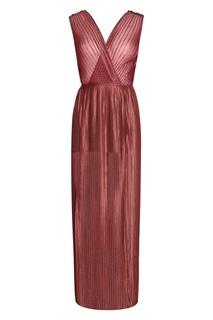 Плиссированное платье «Терракот» Esve