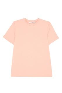Хлопковая футболка персикового цвета Taline Acne Studios