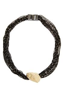 Колье из черных шнуров Adolfo Dominguez