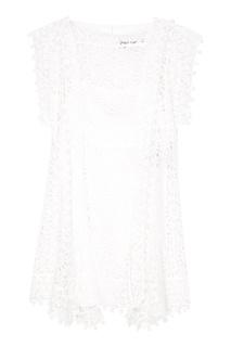 Белое платье-мини из хлопка Isabel Marant