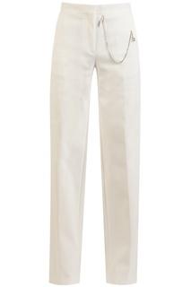Белые хлопковые брюки Off White