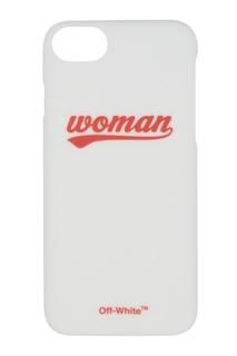 Белый чехол с надписью для iPhone 8/7 Off White