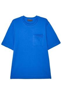 Синяя хлопковая футболка Zasport