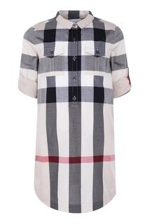 Платье-рубашка в клетку Burberry Children