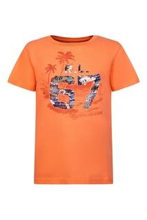 Оранжевая футболка с принтом Ralph Lauren Children