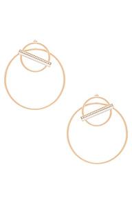 Серьги-кольца saturn - Elizabeth Stone
