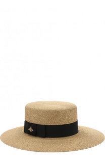 Шляпа с лентой и декором Gucci