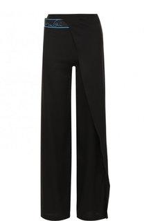Шелковые брюки с эластичным поясом и оборкой Vionnet