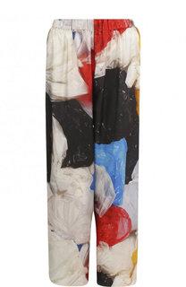 Укороченные шелковые брюки с принтом Vionnet
