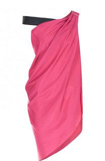 Мини-платье асимметричного кроя с открытым плечом Vionnet