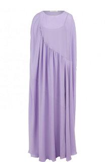 Шелковое платье-макси свободного кроя The Row