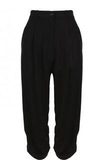 Укороченные брюки из смеси шерсти и вискозы Ann Demeulemeester