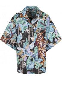 Блуза свободного кроя из смеси хлопка и льна Kenzo