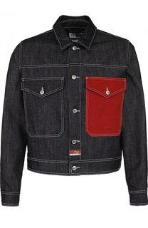Джинсовая куртка на пуговицах с контрастной отделкой Kenzo