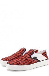 Текстильные слипоны с принтом Vetements