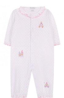 Хлопковая пижама на кнопках с оборками Kissy Kissy