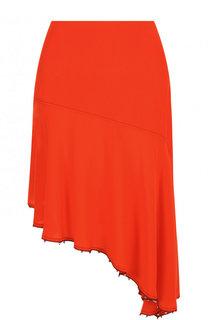 Однотонная шелковая юбка-миди асимметричного кроя Sonia Rykiel