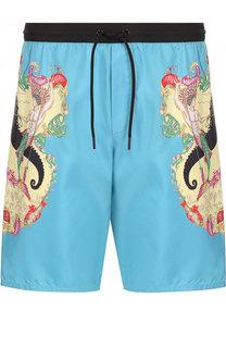 Плавки-шорты с принтом Versace