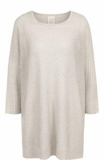 Кашемировый пуловер свободного кроя с круглым вырезом 120% Lino