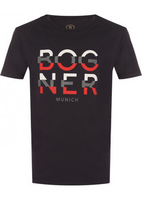 Хлопковая футболка с принтом Bogner