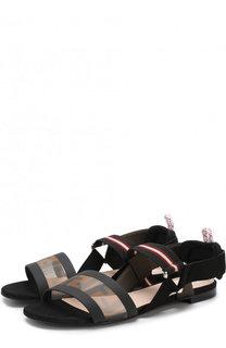 Текстильные сандалии с принтом Fendi