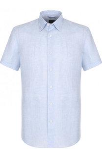 Льняная рубашка с короткими рукавами Ermenegildo Zegna