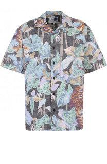 Рубашка из смеси хлопка и льна Kenzo