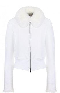 Приталенная хлопковая куртка с меховой отделкой Givenchy