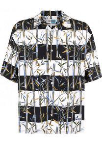 Рубашка из вискозы с короткими рукавами Kenzo
