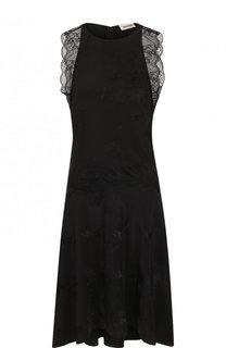 Однотонное шелковое платье с кружевной отделкой Zadig&Voltaire Zadig&Voltaire