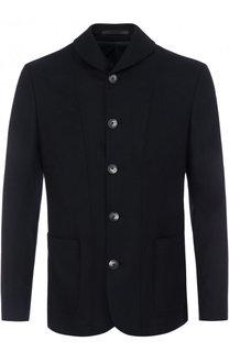 Однобортный кашемировый пиджак Giorgio Armani