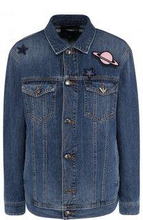 Джинсовая куртка с декорированной отделкой Emporio Armani