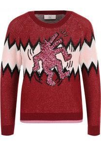Вязаный пуловер из смеси шерсти и кашемира Coach