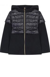 Текстильная куртка с капюшоном и стеганой отделкой Herno