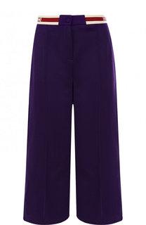 Укороченные брюки со стрелками и эластичным поясом Gucci